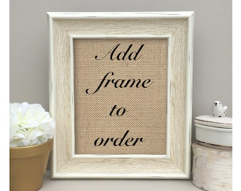 Add Frame To Order