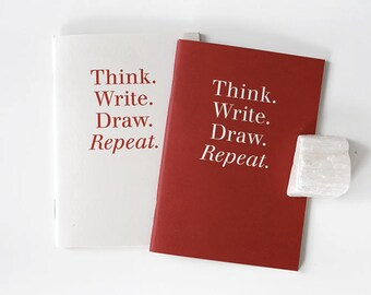 Pocket size Notebook set / 2 colors[Red,Ivory] / A set of 2pcs / N-04 / 1687724