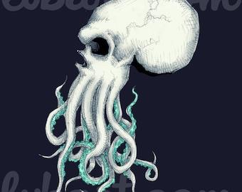 Skull Of Cthulhu Fine Art Print
