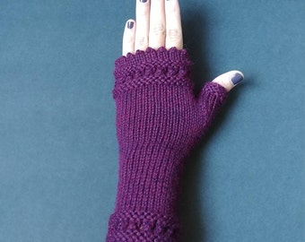 Hand Knit Fingerless Gloves | Fingerless Gloves | Hand Knit Fingerless Mitts ||| THE VERONA MITTS
