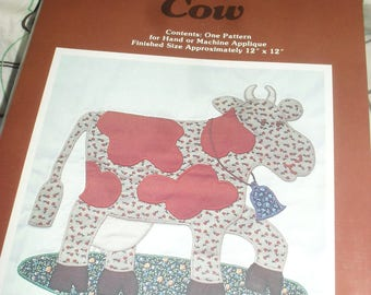 Yours Truly - Applique Pattern - Calico Cow - 1979 - Unused