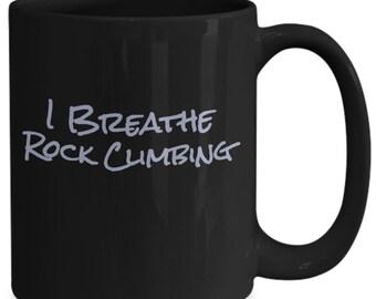I breathe rock climbing - gray