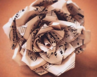 Paper Rose – recycled from old music sheets