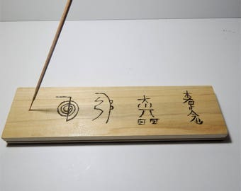 Reiki wooden  incense burner