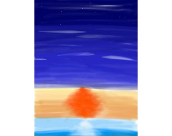 Sunset drawing