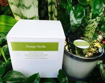 Orange Vanilla Large Soy Candle