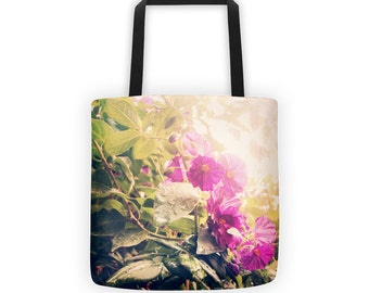 Flowers in the Rain Tote for Eco Shopping and School and Sundry