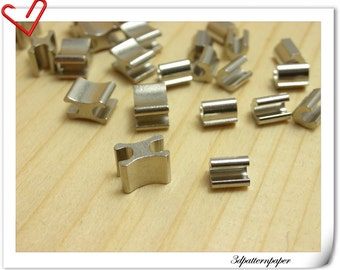 5# Silver zipper stop  Zipper stop and Zipper bottom make of copper AAA Top quality 50sets i41