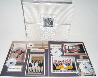 Nautical Wedding Gift - Wedding Scrapbook Album - Anniversary Scrapbook Album - Wedding Photo Album - Anniversary Photo Album - Wedding Gift