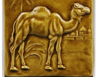 Camel Tile, single glazed high fired stoneware.