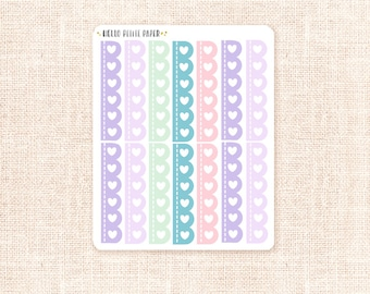 Scalloped checklist stickers - Mermaid Collection / 14 functional planner stickers
