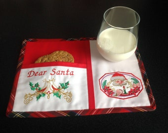 Christmas Santa mug rug for cookies