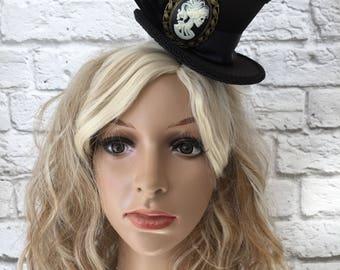Halloween Mini Top Hat, Skull Top Hat.