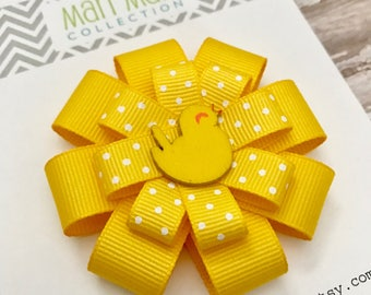 Little Chick Hair Bow - Easter Chick Hair Bow - Easter Hair Clip - Easter Hair Accessory - Girls Easter Hair Bow - Yellow Chick Hair Bow