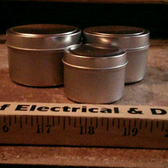 Customizable Soy Candles in a Silver Tin