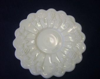 Vintage, Westmoreland, Milk Glass, Dessert Plate.