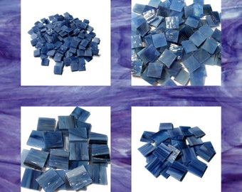 Purple Haze Squares Pearl Opal Stained Glass Mosaic Tiles Hand Cut Spectrum
