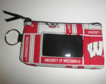 Wisconsin Badgers Zip ID pouch