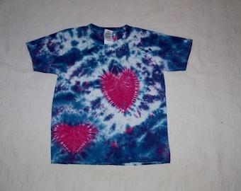 kids small , kids tie dye shirt, hippie kid, 60's shirt, colorful shirt, tie dye tee, kids tie dye, pink, purple, heart