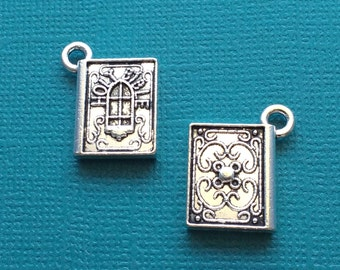 4 Bible Charms Silver Holy Bible Charm - CS2705