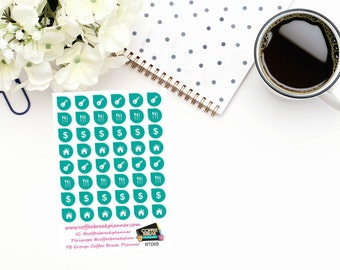 Planner Stickers| Realtor Stickers|Realtor Reminder Tear Drop stickers in Teal|For use in a variety of planners and journals| RTD05