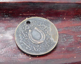 1890's White Brothers  & Co. Boston , USA MERCHANT TOKEN - Good Luck Horse Shoe      dr20