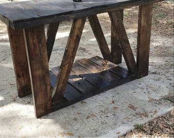 reclaimed wood, pallet wood, pallet kitchen island, kitchen island, pallet island, 1 shelf, hand rubbed, coconut oil finish, farmhouse