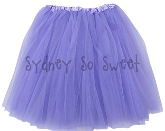 Lavender - PLUS Size XL or Extra Plus XXL Adult, Teen, Women's 3 Layer Ballet Tutu Skirt - Three Layers, Costume, Running, 5K, Party Skirt