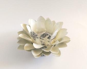 Paper Lotus Lantern -Toile Black and Cream-