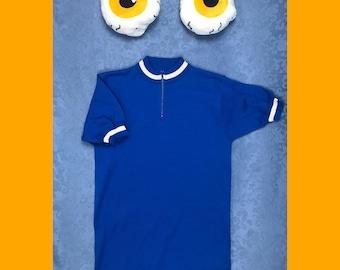 Blue and White Mod 70s Ringer Shirt