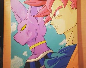 Goku Beerus 16x20