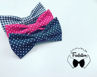 Pois and Vichy bow tie