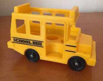 Vintage Fisher-Price Little People Small Yellow School Bus