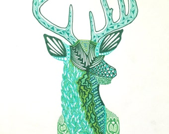 "Zentangle Deer - ""Roots (Cervidae)"""