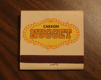 Vintage Matchbook, Golden Nugget, Carson City, Nevada, The Happiest Casino in the World