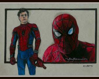 Spiderman Portrait Print