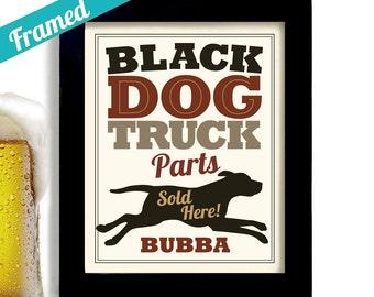 Truck Driver Black Lab Garage Sign Pickup Truck Personalized Art Black Labrador Retriever Garage Decor Truck Art Truckers Gift Mans Gift