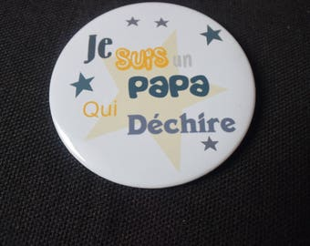 "Badge "". Daddy..."" customizable for color 5-9mm"
