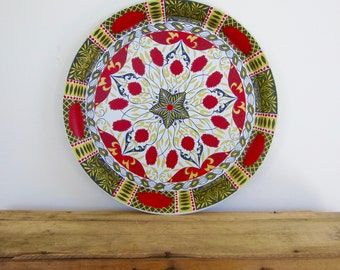 Red Chrysanthemum Tray