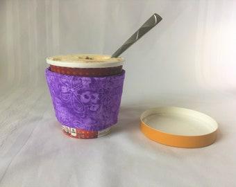 Ice Cream Sleeve, Ice Cream Holder, Pint Ice Cream, Pint Cover, Insulated Ice Cream Cover