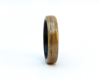 Walnut and Ebony Wood Ring, Size 8, Bentwood Ring, Liner Ring, Wooden Ring, Wood Wedding Band, Wood Wedding Ring, Bentwood Wedding Band Men