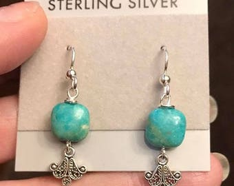 Sterling Silver Turquoise Earrings.