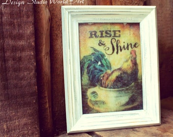 "Painting on glass ""Rise & Shine"""