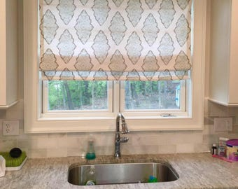 Attractive Custom Roman Shade, Made To Order Window Treatment, Blackout Shades, Flat Roman  Shade