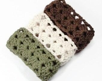 Crochet Lace Headband, Adult Women Headbands, Stretchy Adjustable Hair Bands