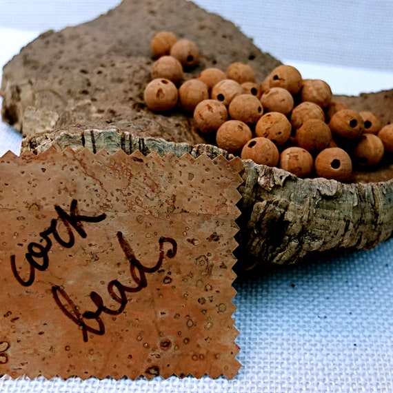 Cork Beads: Cork Beads 50 Pcs 12mm For Organic Jewelry Spheres For