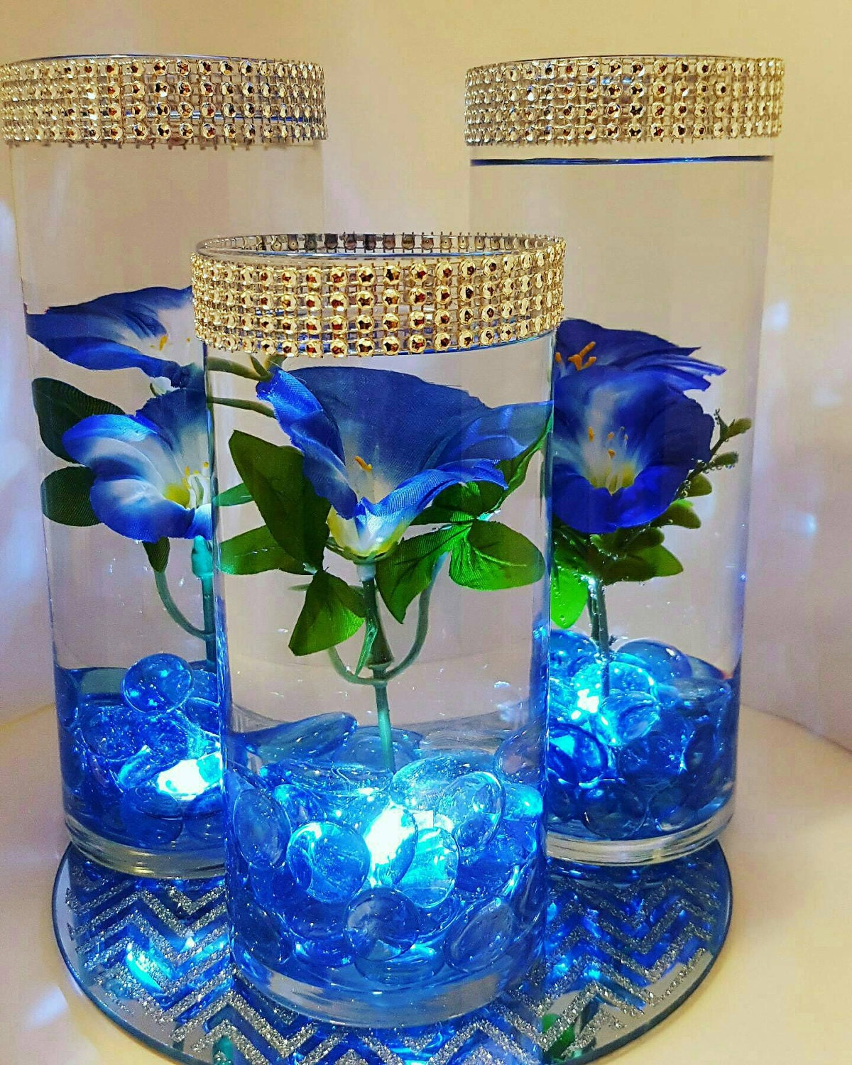Wedding centerpiece floating flower led lights