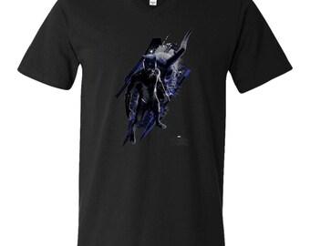 Marvel Black Panther Vs Kilmonger T Shirt Men's V-Neck T-Shirt
