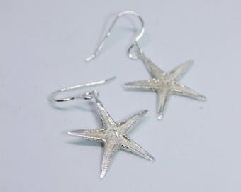 Sterling Silver Real Starfish Earrings