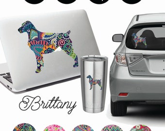 Brittany Spaniel Decal